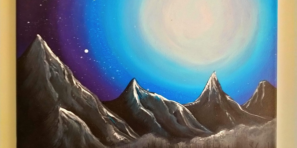 LOGANHOLME - Learn to paint 'Moonlight lake'!