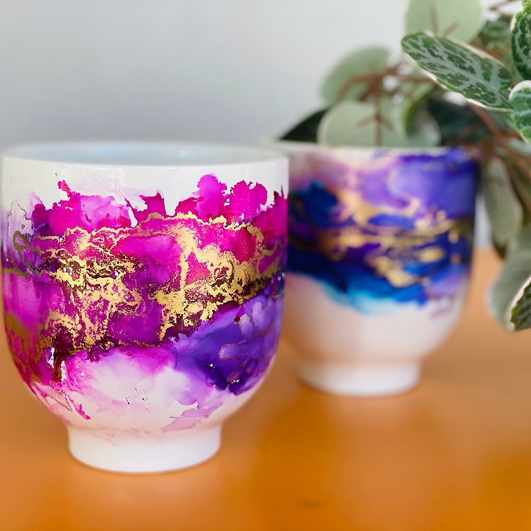 Coffee Club Hyperdome - Learn to make 2x Alcohol Ink Planters