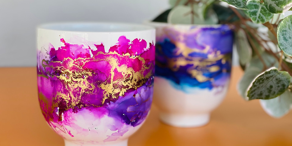 Degani Beenleigh - Learn to make alcohol ink planters!