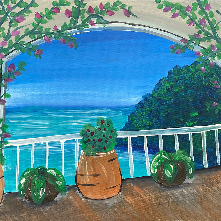 Degani Beenleigh - Learn to paint 'Cliffs of Greece'!