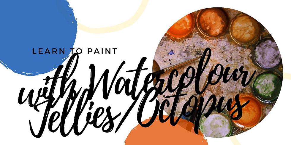 VIRTUAL CLASS - TEEN After School Watercolour Jellies/Octopus