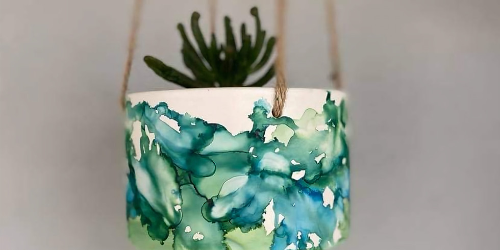 Coffee Club Hyperdome - Learn to make 2x Ink art hanging pots!