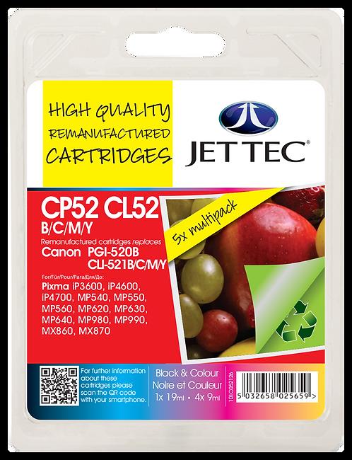 PGI-520 Black, CLI-521 Black, Cyan, Magenta, Yellow Multipack