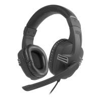 Versico Full-size Stereo Headset with Microphone, 2m Cable, Black/Grey