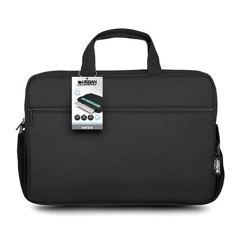 "Urban Factory 15.6"" Laptop Carry Case, Pocket & Strap, Black"