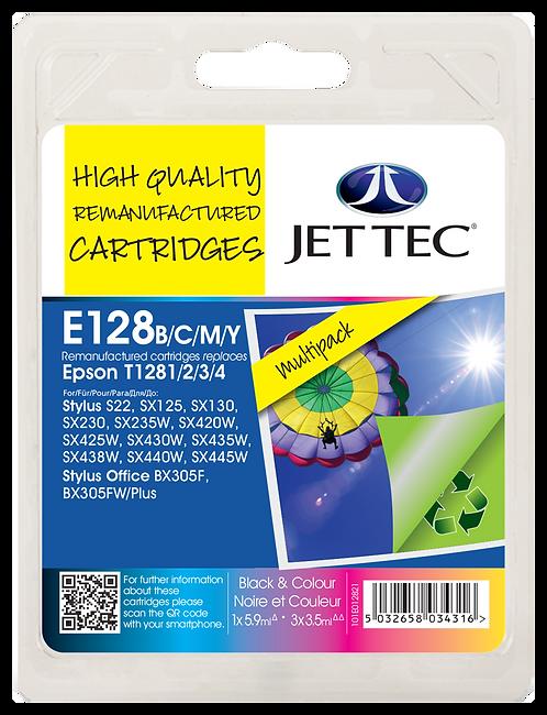T1281/2/3/4 Black, Cyan, Magenta, Yellow & Multipack