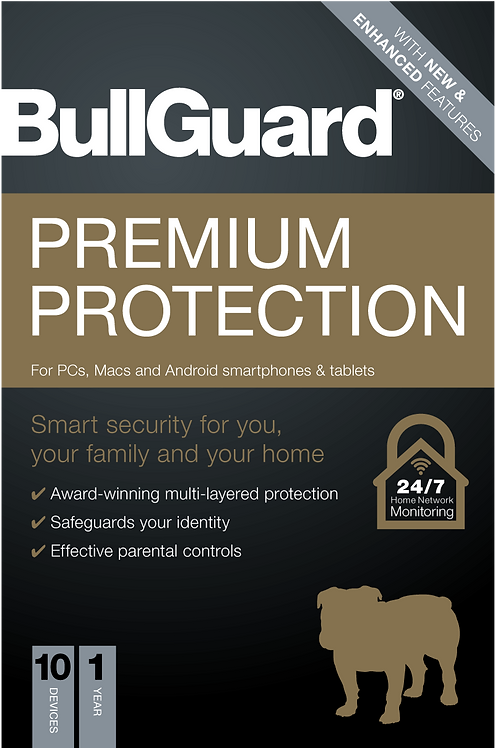 Bullguard Premium Protection 2020, 10 User, Retail, PC, Mac & Android,1 Year