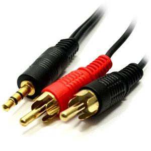 3.5mm Stereo Plug - 2x RCA Plug