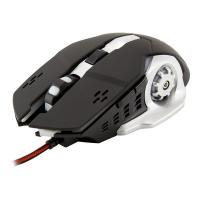 WHITE SHARK GAMING GM-1801 Leonidas 3200dpi Gaming Mouse, Black/White
