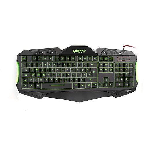 Sumvision LED Gaming Keyboard Wraith 7 Colour LED Gaming Keyboard USB Wired