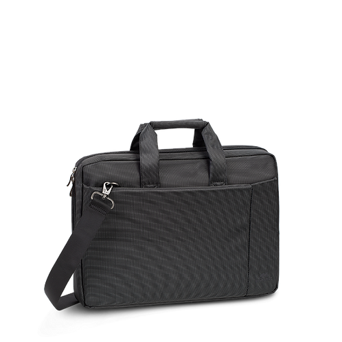 RIVACASE 8231 Polyester Bag for 15.6 Inch Laptop, Black or Grey