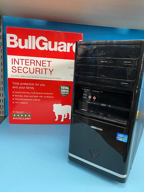 Refurbished Medion PC Desktop Intel Core i3 3.30Ghz 4GB 500GB HDD Win10