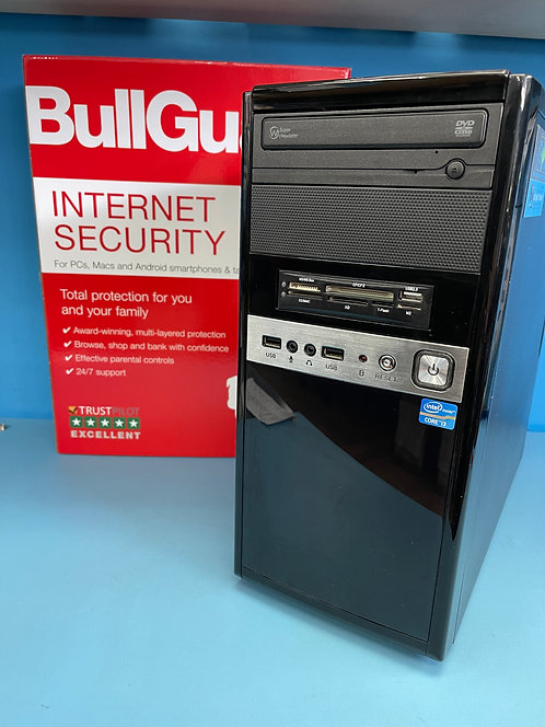 Refurbished PC Desktop Intel Core i3 @ 3.40Ghz 8GB 120GB SSD 1TB HDD Win10