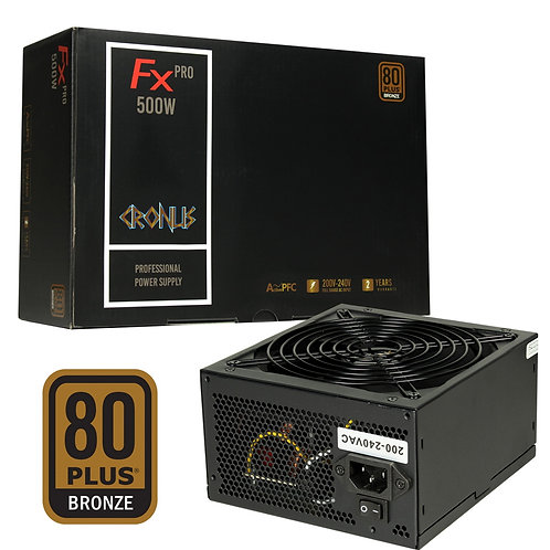 Cronus FX PRO 500W 140mm Silent Fan 80 PLUS Bronze PSU