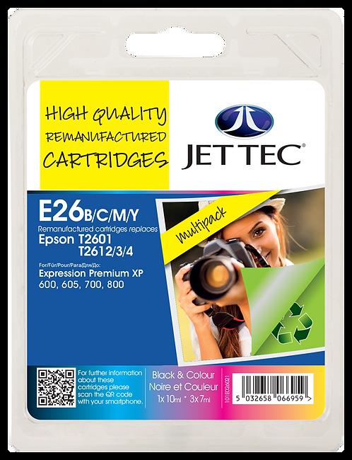 T2601/2/3/4 Black, Cyan, Magenta, Yellow & Multipack