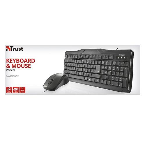 Trust ClassicLine USB Keyboard & Mouse Set