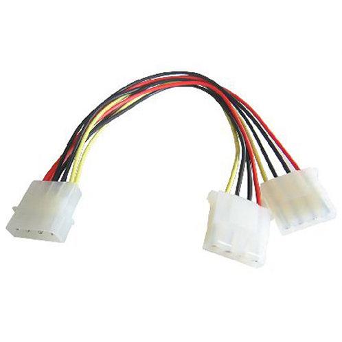 4-Pin Molex (M) to 2 x 4-Pin Molex (F + F) 0.2m Internal Splitter Cable