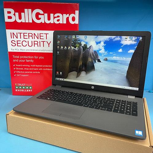 "Refurbished HP Laptop Intel Core i3 2.00Ghz 8GB Ram 256GB SSD 15.6"" Windows 10"