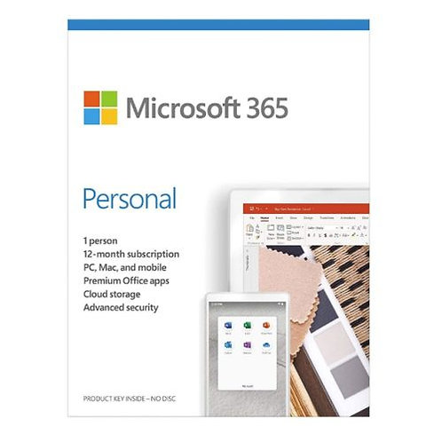 Microsoft 365 Personal, 1 User, 1 Device, 1 Year Subscription