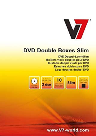 DVD Doubles Boxes Slim Pack of 10