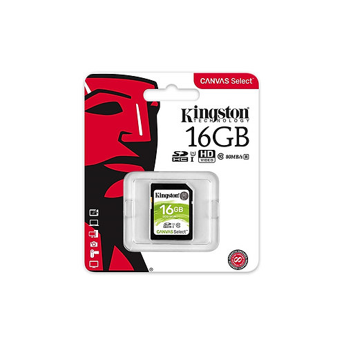 16GB Kingston Canvas Select SDXC Card, Class 10