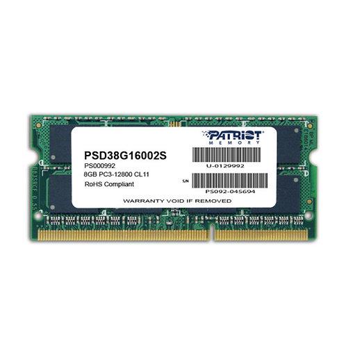 Patriot 8GB No Heatsink (1 x 8GB) DDR3 1600MHz SODIMM Laptop Memory