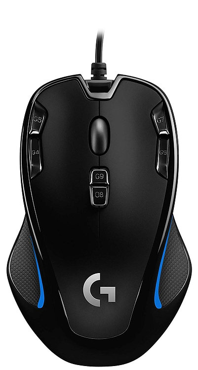 Logitech G300s Wired Gaming Mouse, 2,500 DPI, RGB, Lightweight