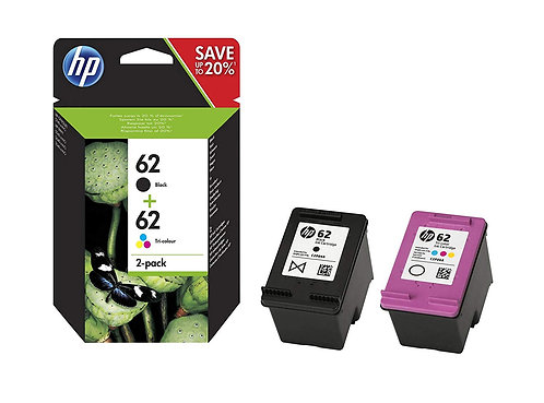HP62 Black, Colour & Multipack