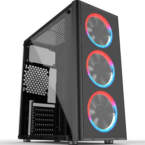 Cronus Metis Mid Tower 1 x USB 3.0 / 2 x USB 2.0 Temper Glass Side Window Panel