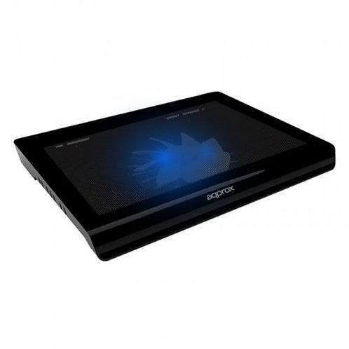 Laptop Cooler, up to 15.6″, USB, Fan, Black, Ergonomic, LED
