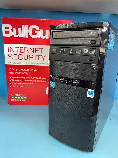 Refurbished PC Desktop Intel Core i3 @ 3.20Ghz 8GB 240GB SSD 500GB HDD Win 10