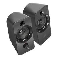 Daroc USB-powered Stereo Speaker, 3.5mm Stereo Jack Audio, Black