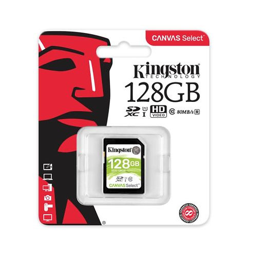 128GB Kingston Canvas Select SDXC Card, Class 10