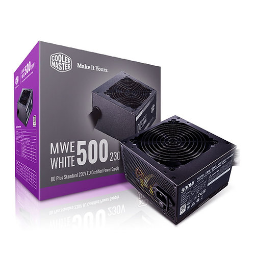 Cooler Master MWE 500W 230V V2 120mm HDB Fan 80 PLUS White PSU