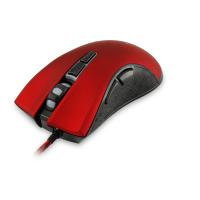 WHITE SHARK GAMING GM-1601 Spartacus 4800dpi Gaming Mouse, Red/Black