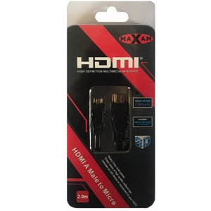 HDMI to Micro HDMI Cable 2 Metre (Retail Package)