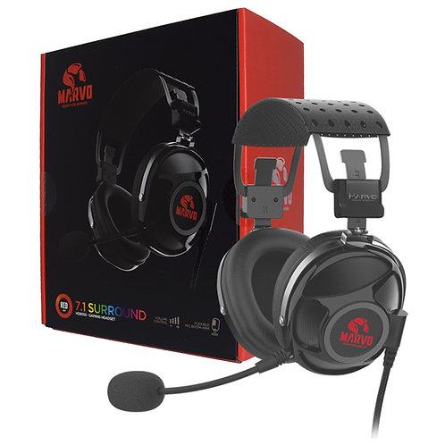 Marvo Scorpion PRO HG9053 7.1 Virtual Surround Sound Red LED Gaming Headset