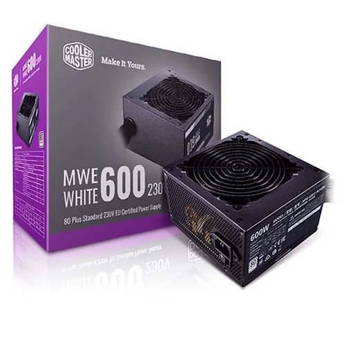Cooler Master MWE 600W 230V V2 120mm HDB Fan 80 PLUS White PSU