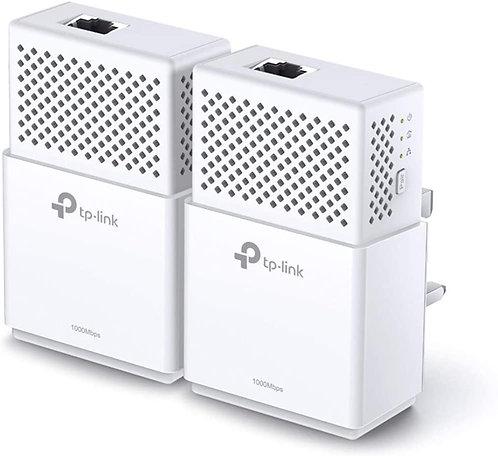 TP-LINK AV1000 GB Powerline Adapter Kit, 1-Port