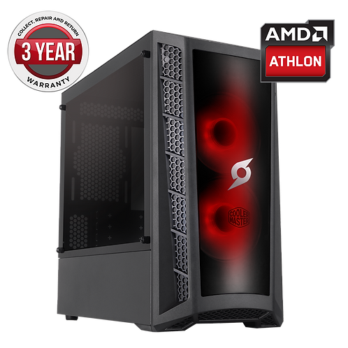 Onyx AMD Athlon 3000G 8GB Ram 2TB HDD Radeon Vega 3 Graphics Windows 10