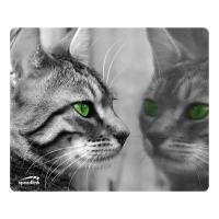 Silk Mousepad, Cat Reflection Design
