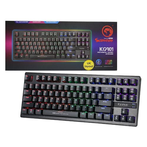Marvo Scorpion KG909 RGB LED Full Size Mechanical Gaming Keyboard Blue Switches