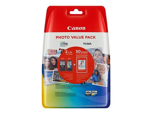 Canon Original Ink Cartridges PG-540 XL and CL-541XL Colour Pack