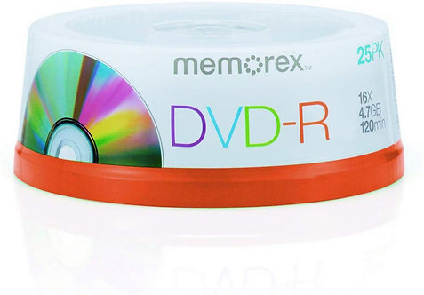 DVD-R Pack of 25
