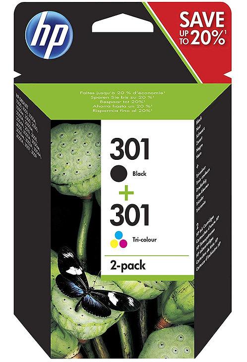 HP301 Black, Colour & Multipack