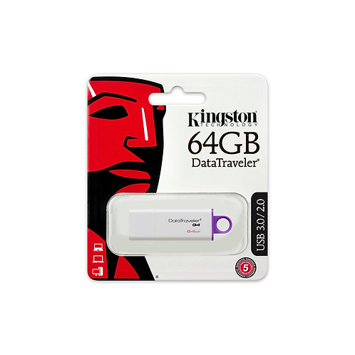 64GB Kingston DataTraveler G4 USB 3.0 USB Flash Drive