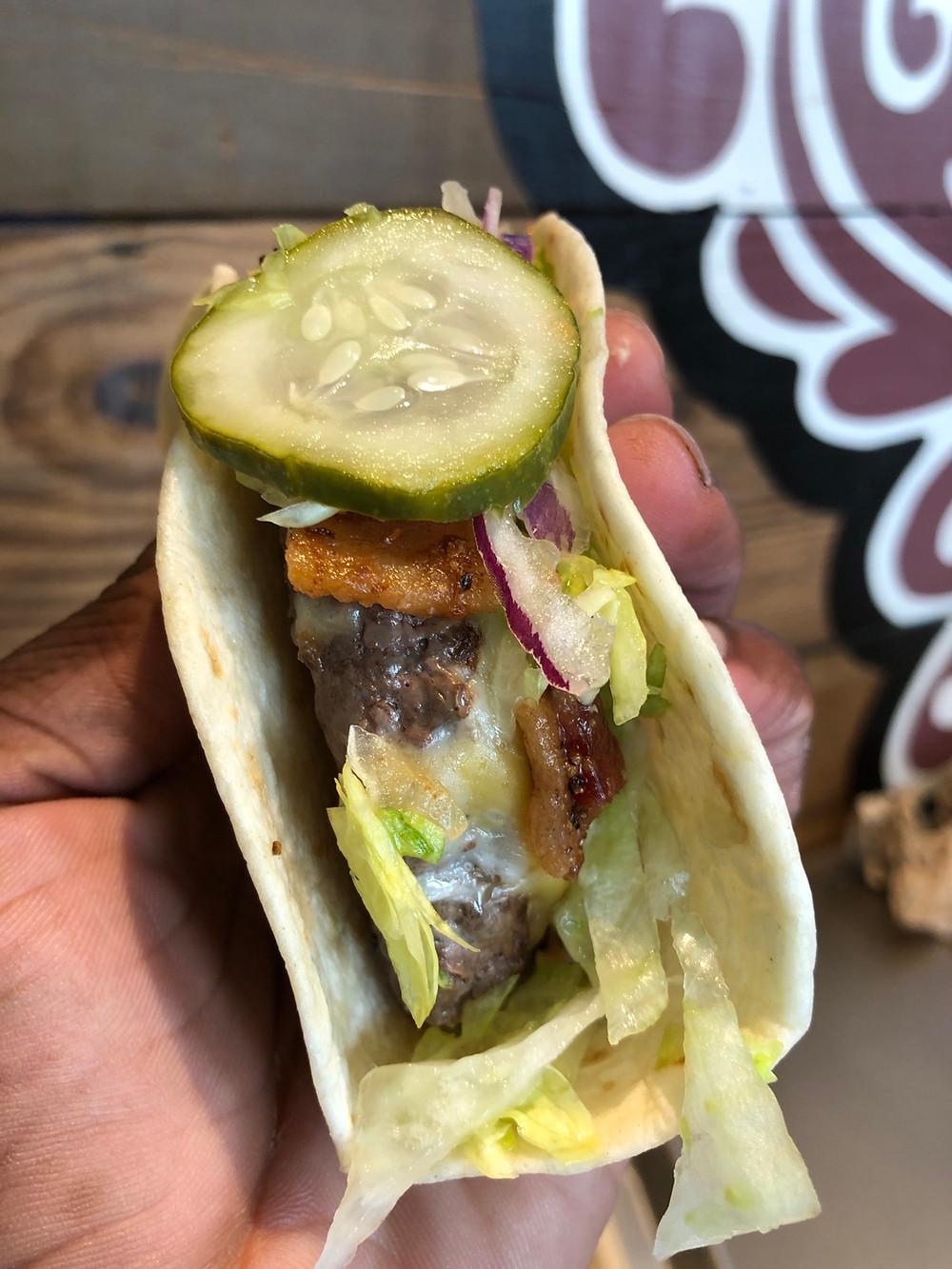 velvet taco charlotte review - kobe bacon burger