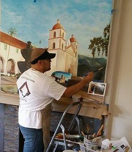 muralist and Venetian plaster Richard Negrete