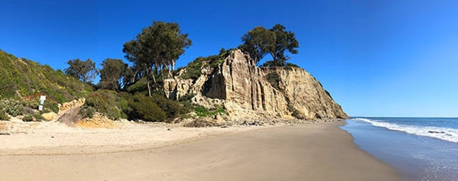 the beach in Summerland CA