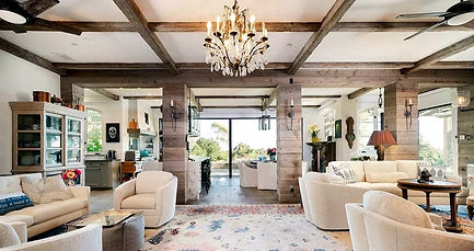 the interior of a montecito home